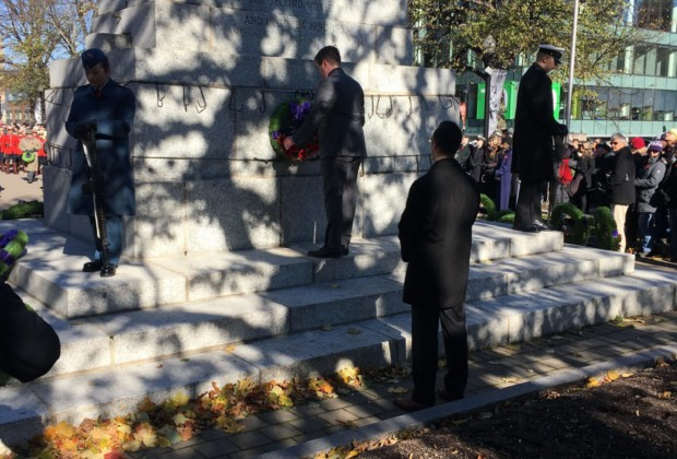Halifax Sigs lay wreath on Remembrance Day